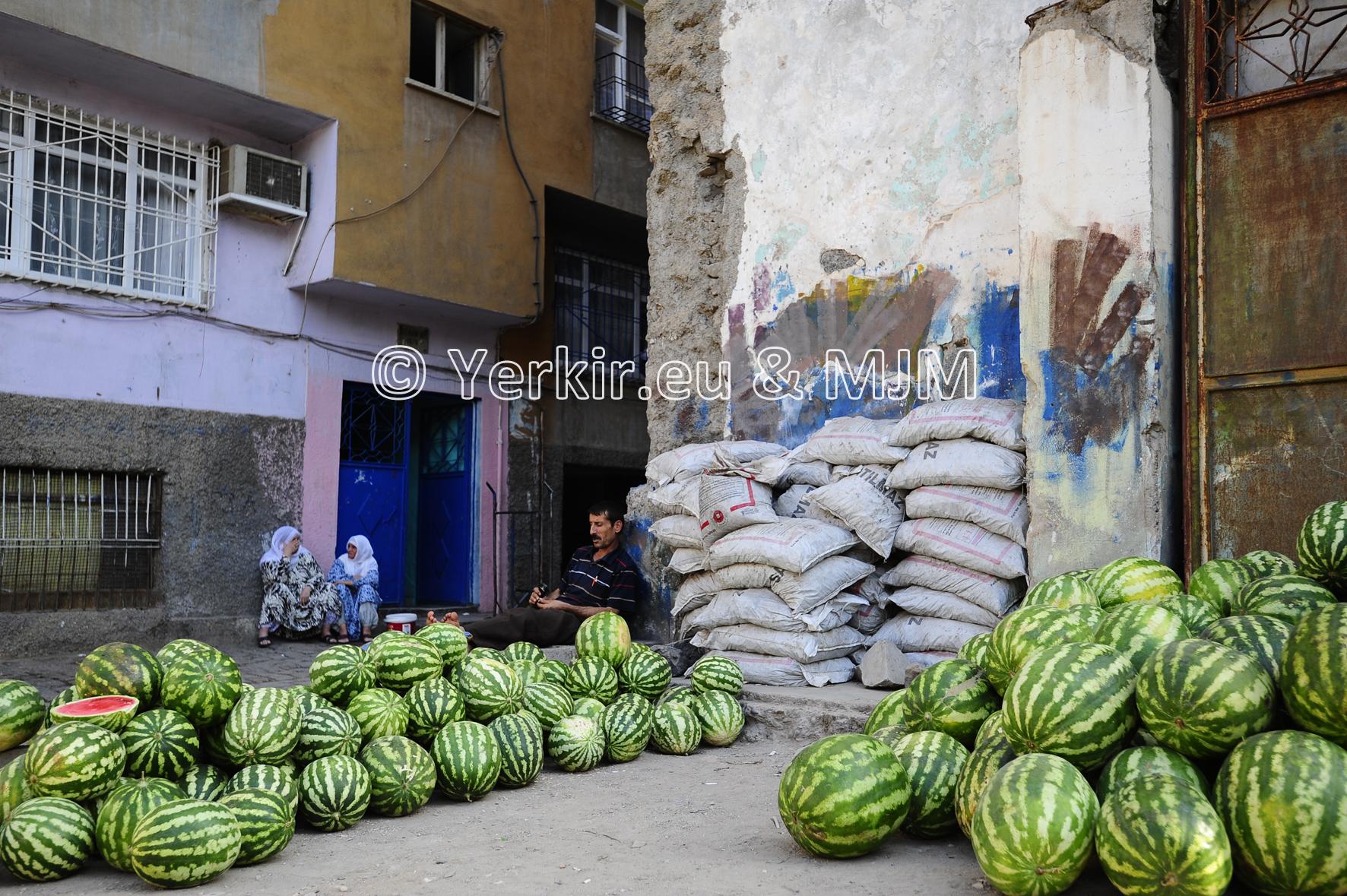La pastèque omniprésente à Diyarbakir