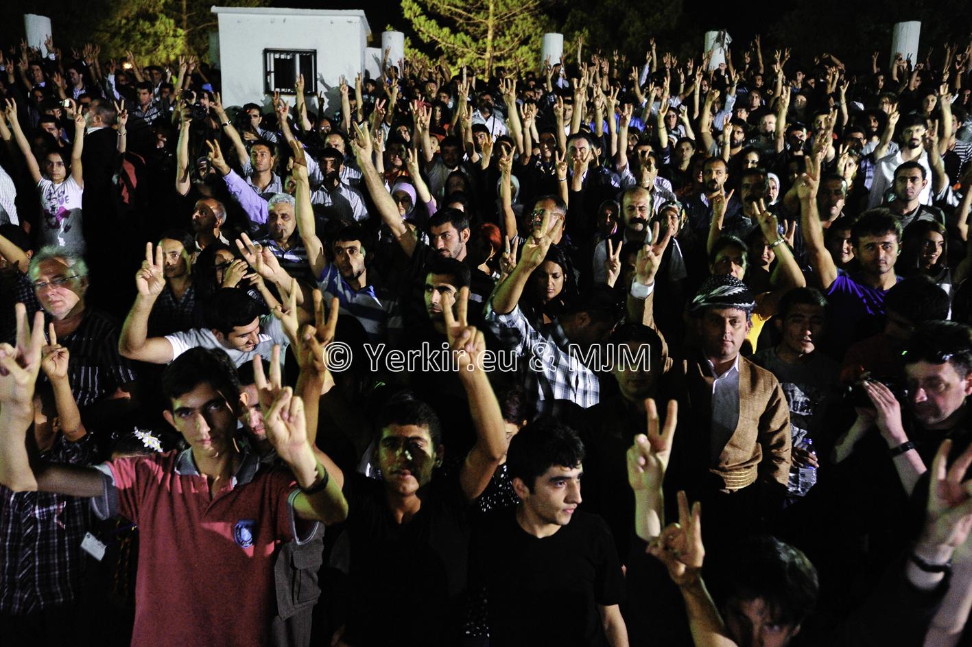 Diyarbakir, public du concert du Van Project