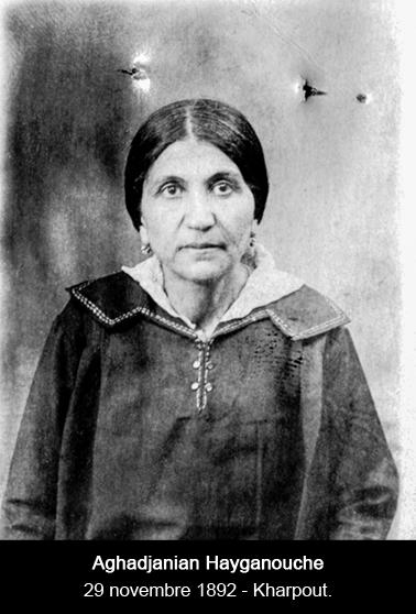 Aghadjanian Hayganouche née à Kharpout le 29-11-1892